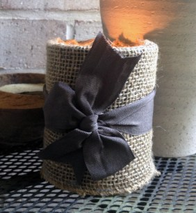 easily entertained - burlap coffee can diy https://hostingandposting.files.wordpress.com/2013/05/025.jpg?w=228&h=304