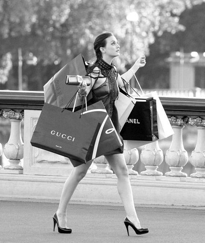 Blair Waldorf shopping bags Gossip Girl