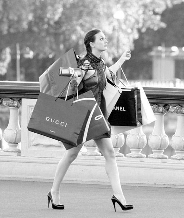 Blair Waldorf shopping bags Gossip Girl