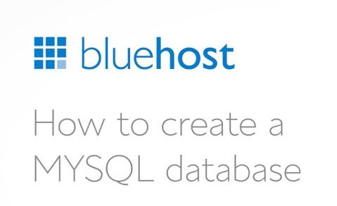 Create Bluehost Databases Manually