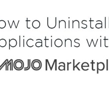 Uninstall Applications Using MOJO Marketplace