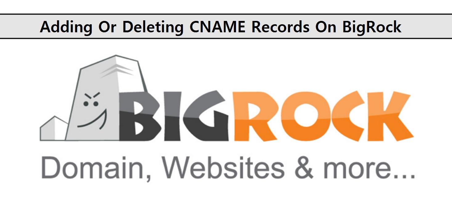 Adding Or Deleting CNAME Records On BigRock