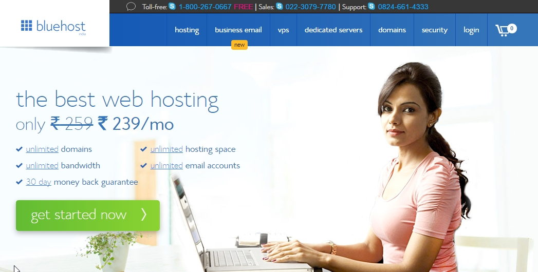 Start A WordPress Blog On Bluehost India - Hosting Decisions
