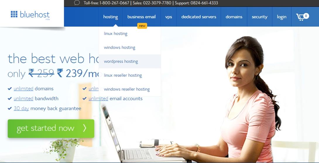 Start A WordPress Blog On Bluehost India
