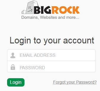 How to login and change passwords on Plesk using BigRock 1