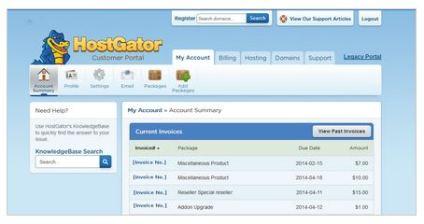 HostGator Account