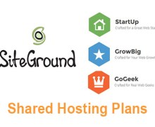 SiteGround StartUp, GrowBig and GoGeek Hosting Plans