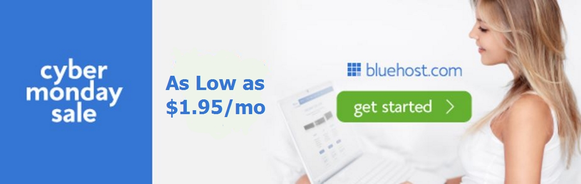 Bluehost Black Friday Cyber Monday 2016
