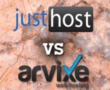 JustHost Versus Arvixe