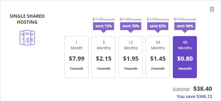 Hostinger pricing plans