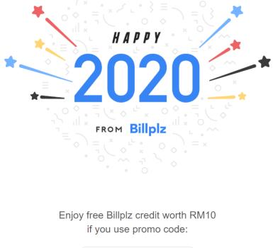 Billplz Memberikan Kredit Percuma Sempena 2020
