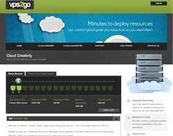 Image of VPS2Go homepage