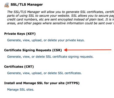 Certificate Signing request CSR