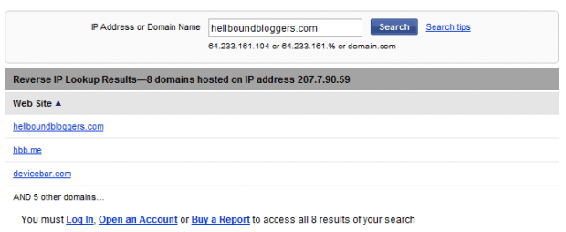 Reverse IP - HBB
