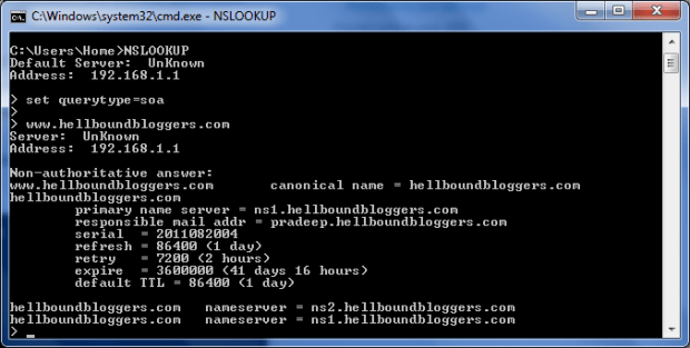 Find DNS Name Server