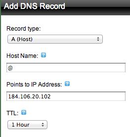 add dns record @