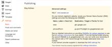 Blogger Blogspot Custom Domain Name