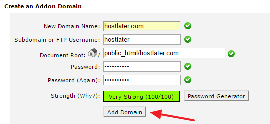 HostGator Add Domain