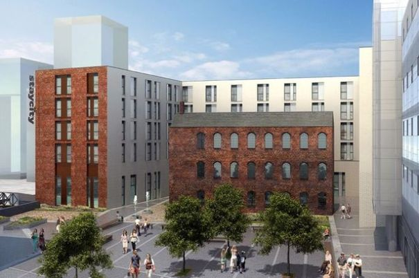 CGI of the Staycity serviced apartment complex in the Jewellery Quarter