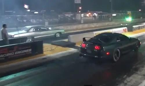 Drag Race - 900hp FLAME THROWER Supra