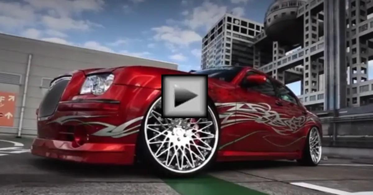 Chrysler 300c on 24 LF Wheels mopar car