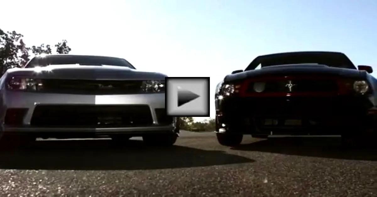 camaro z28 vs mustang boss american muscle cars battle