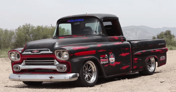 1959 Chevrolet Corner Carving Apache American pick up truck