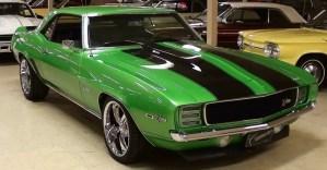 1969 chevrolet camaro z28 muscle car