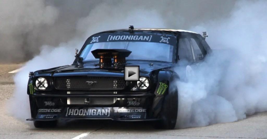 Hoonigan Mustang Drag Race