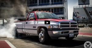 big tire dodge ram dually drag racing