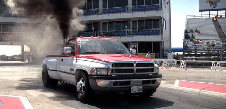 big tires dodge ram dually drag racing