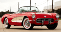 fuel injected red 1957 chevrolet corvette collector car