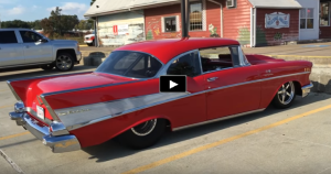 red pro street 1957 chevy bel air