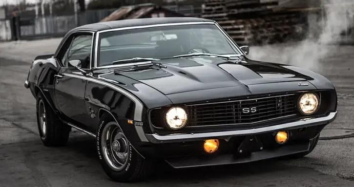 black 1969 camaro ss restored