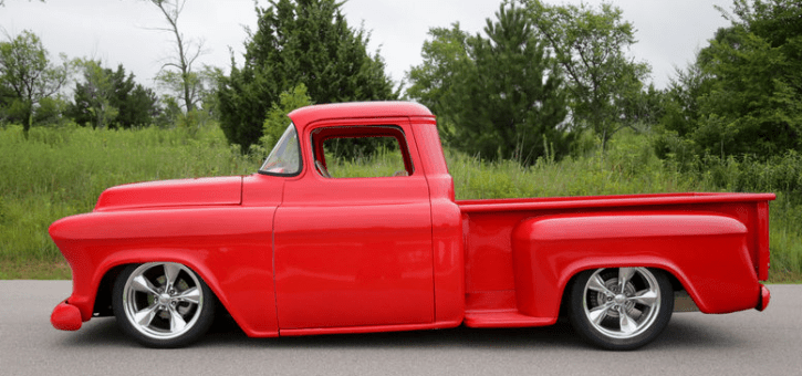 red 1955 chevy 3100 truck