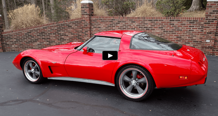 torch red 1979 corvette 350 restomod