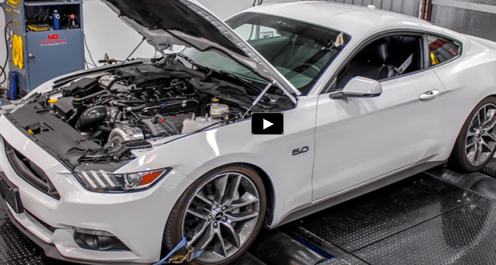 procharged s550 mustang on the dyno