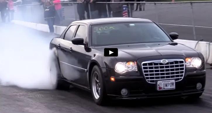 9-second nitrous chrysler 300c drag racing