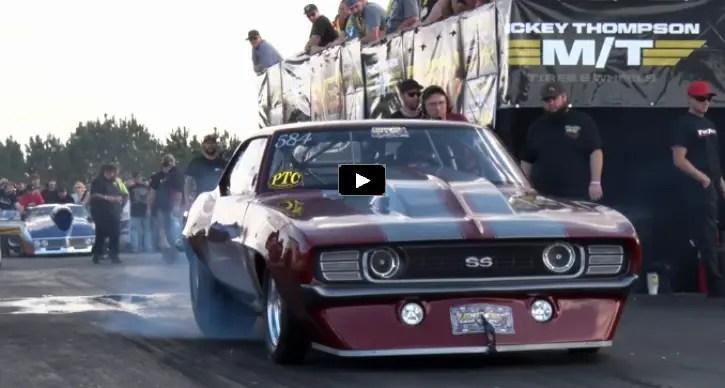 twin turbo camaro radial car drag racing