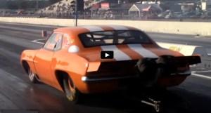 8 second 1st generation chevy camaro z28 big tore drag racing