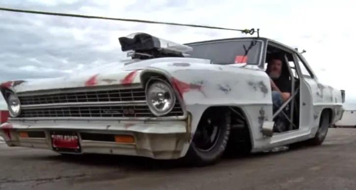 1967 chevy nova no prep drag racing