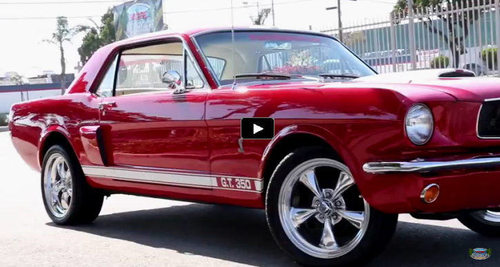 red 1965 ford mustang coupe gt350 clone