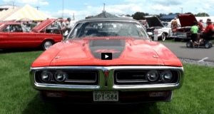 rare 1971 dodge charger 440 4 speed in bright red