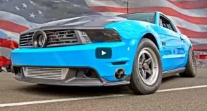 1400hp turbocharged mustang drag racing