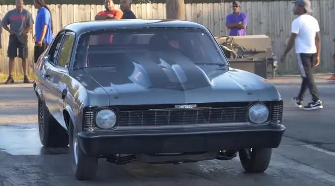 nitrous chevy nova drag racing