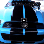grabber blue shelby gt500 drag racing