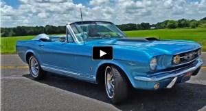 1966 ford mustang convertible parade car