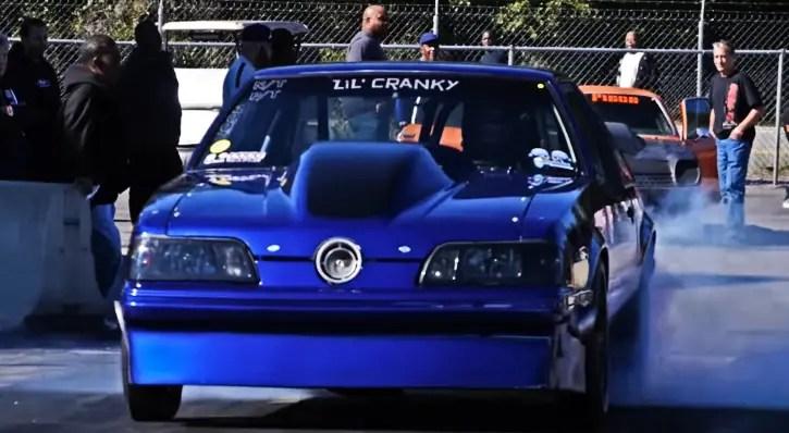 single turbo fox body mustang drag racing
