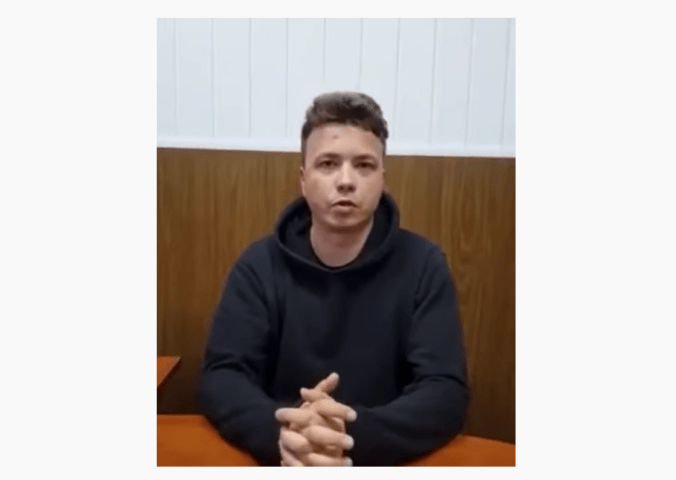 Journalist Roman Protasevich appeared in a detention videos