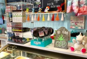 cbd based products in a storefront